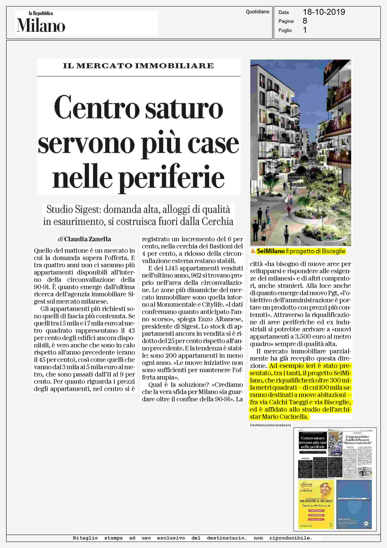 SeiMilano, oltre 500 residenze firmate Mario Cucinella