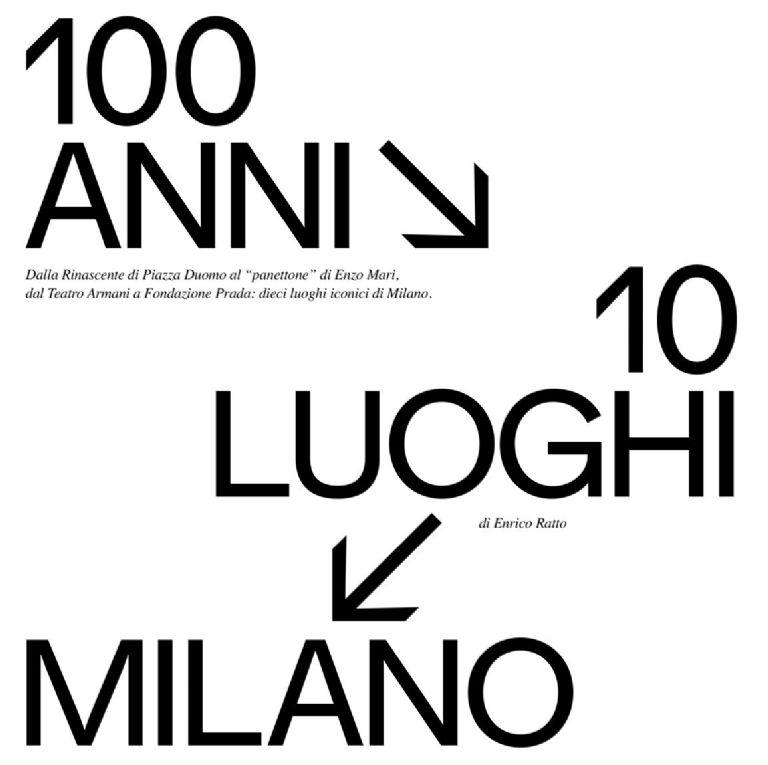 100 ANNI, 10 LUOGHI, MILANO